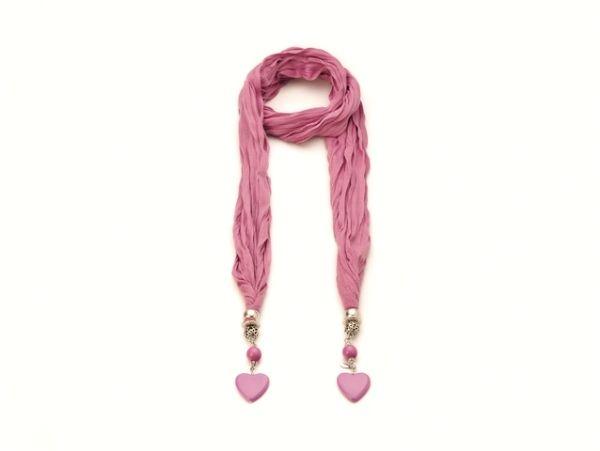 Schal - Halstuch - dunkel-rosa 52277