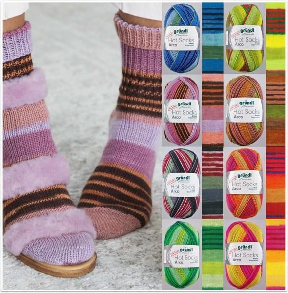Gründl Hot Socks Arco, 100g Sockenwolle 4-fach