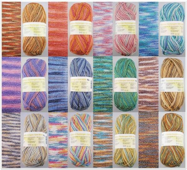 Zettl San Remo, 50g Sockenwolle 4-fach mit Baumwoll-Anteil
