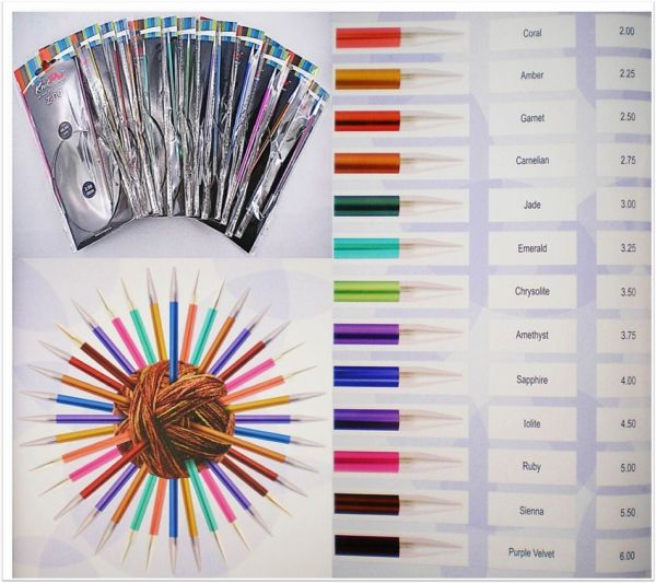 Knit Pro Zing Rundstricknadeln 60cm Länge aus Aluminium in verschiedenen Stärken