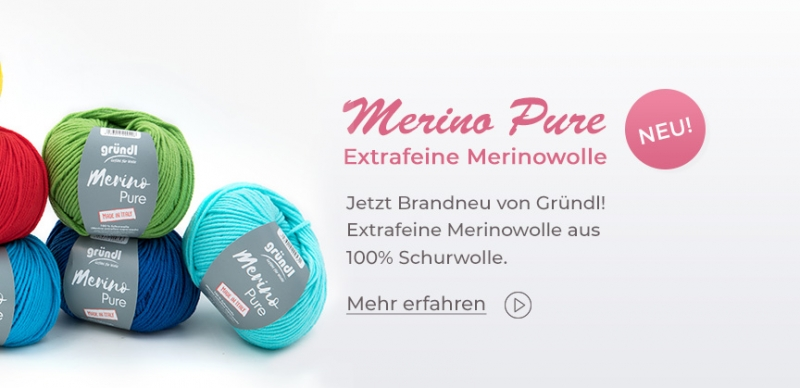 Gründl Merino Pure, 50g Merino extrafine superwash