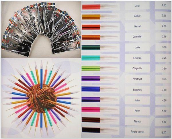 Knit Pro Zing Rundstricknadeln 40cm Länge aus Aluminium in verschiedenen Stärken