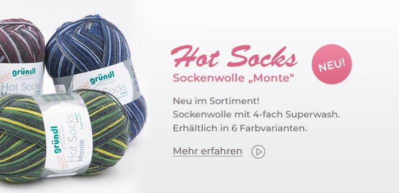 Gründl Hot Socks Monte, 100g Sockenwolle 4-fach