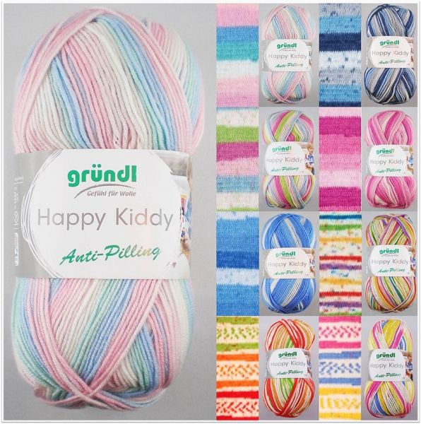 Gründl Happy Kiddy Anti-Pilling, 100g-Knäuel