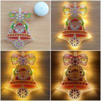 Weihnachtsdeko Diamond Painting Glocke beleuchtet (fertig)