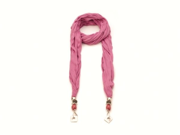 Schal - Halstuch - dunkel-rosa 52301