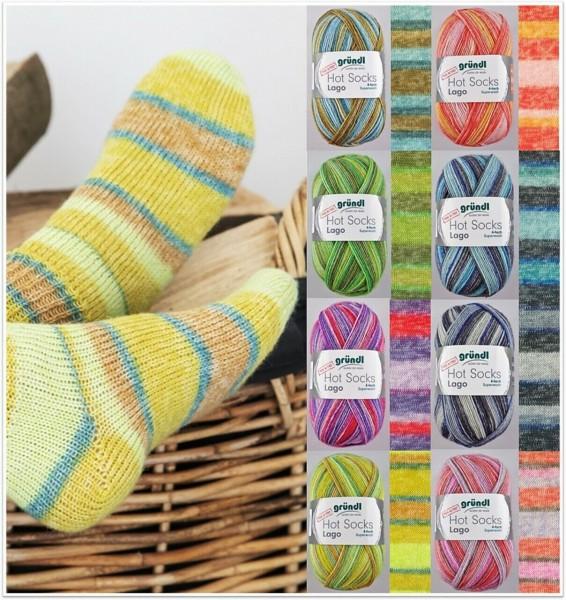 Gründl Hot Socks Lago, 100g Sockenwolle 4-fach