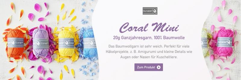 Durable Coral Mini, 20g Ganzjahresgarn
